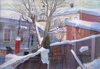 Зима у Никольской церкви