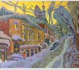 Зимний вечер на Георгиевской улице
