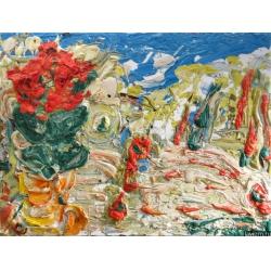 Картина Красная Азалия Натюрморт Абстракционизм