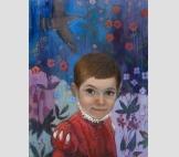Мальчик на фоне старинного гобелена