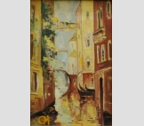 Венеция в старинном стиле (Желтая картина)