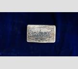 Табакерка, серебро, 1856 г