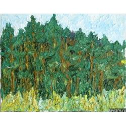 Картина Сосновый бор Лето Тропаревский парк