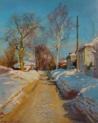 Зимний день на улице Ильинская-Покатая