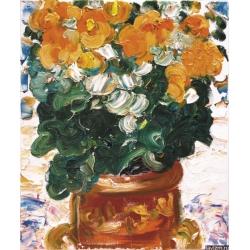 Картина Бегония оранжевая Натюрморт