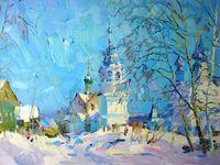 Зима у Воскресенского храма