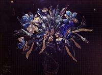 Торжественный натюрморт с синими цветами