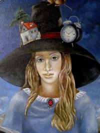 девушка с книгоЙ (фрагмент)
