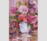 Розы и вишни на столе