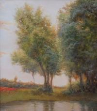 Пейзаж с маками