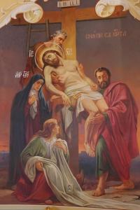 Снятие с Креста. Роспись в храме