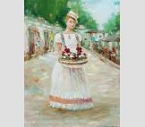 Девушка с цветами в Одессе