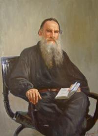 Лев Толстой. Копия с картины И.Репина