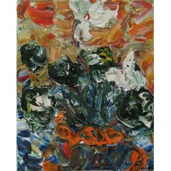 Картина Белый Цикламен Натюрморт