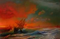 Буря над Евпаторией. Копия с картины И.Айвазовского