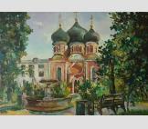 Чугунный фонтан у Покровского храма