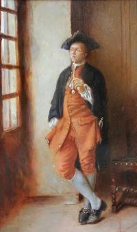 Курильщик. Копия с картины Э.Мессанье