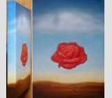 Медитативная роза (копия С.Дали)