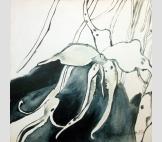 Орхидея монохром