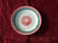 Пирожковая тарелка с ярким декоративным узором