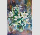 Букет с лилиями