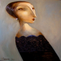 lady with earring