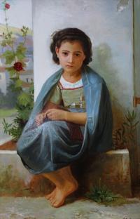 Девочка с пряжей. Копия с картины В.Бугро