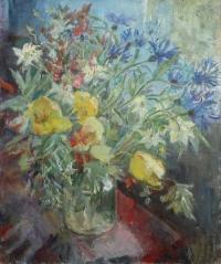 Васильки и тюльпаны
