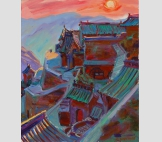 Закат в горной деревне