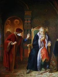 Иван Грозный и его мамка. Копия с картины К.Венига