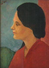 Портрет в профиль жены