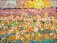 Этюд  Вечернее солнце