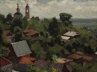 Вид на Вознесенскую церковь