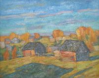 Осенний вечер. Деревня Ростоново
