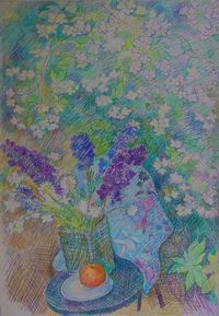 Летние цветы и жасмин