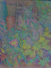 Летние цветы и лестница
