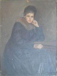 Портрет жены зимний
