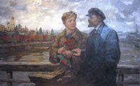 В.И.Ленин с делегатом 3го съезда