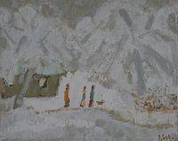 Первый снег на Мироносинской