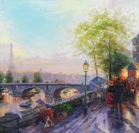 "Копия картины Томаса Кинкейда ""Париж. Эйфелева башня"""