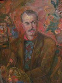 Портрет народного художника В Я Юкина